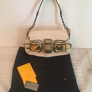 Fendi Borsa B Bis canvas mirror leather bag